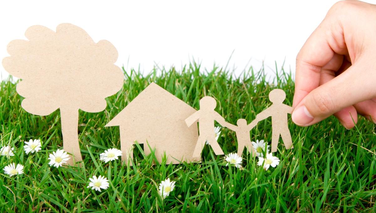 家の模型の画像