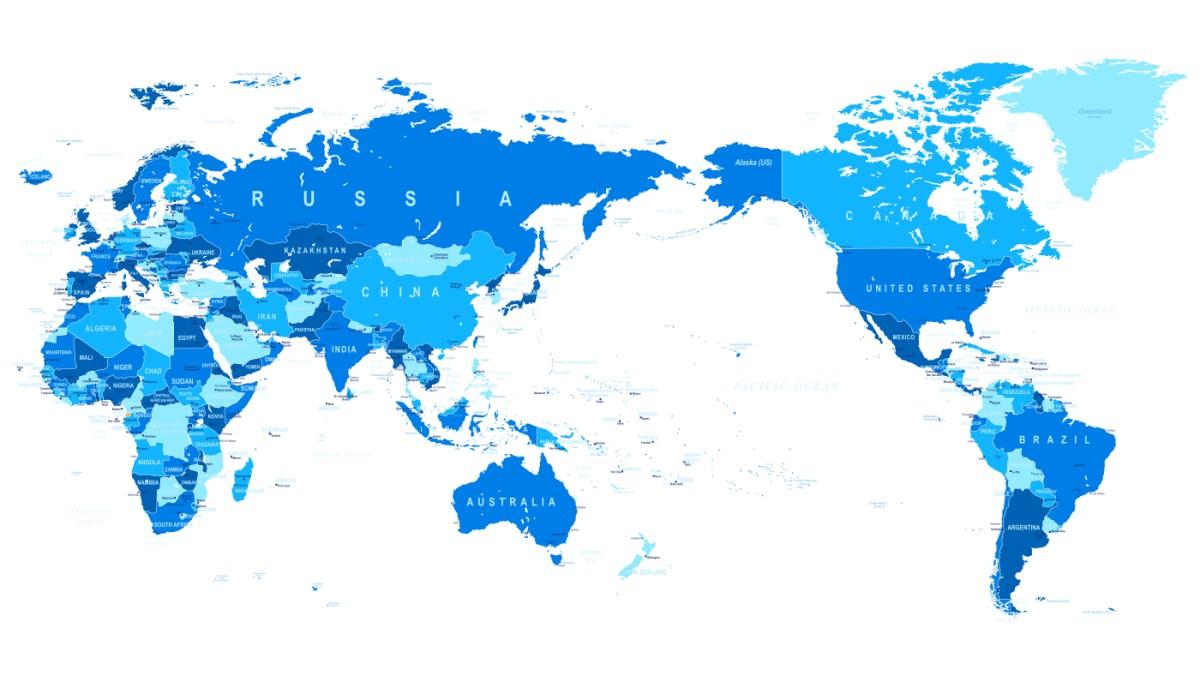 世界地図の加増